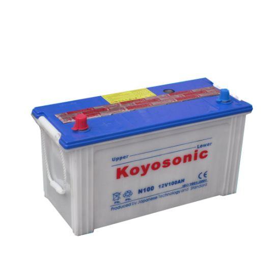 JIS N100 12V 100ah Dry Charged Car Battery Cell Automotive Battery Truck Battery Storage Car Battery Automobile