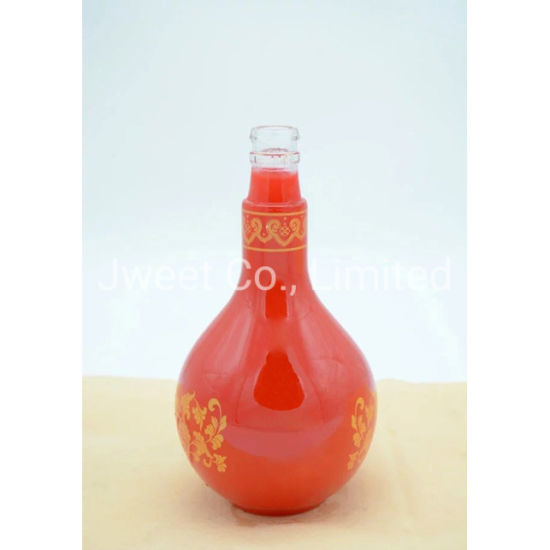 Pear-Shaped High White Screen Printing 1750ml Tequila Wine Bottle