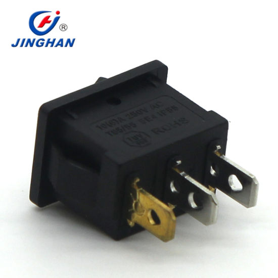 Jiinghan 12V LED Illuminated DOT Micro Rocker Switch T85 pictures & photos