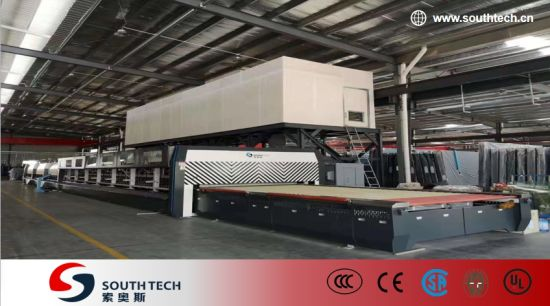 Southtech Horizontal Roller Hearth Energy Saving High Efficient Double Chamber Toughening Glass Machinery with Vortech Convection System (TPG-2-V series)
