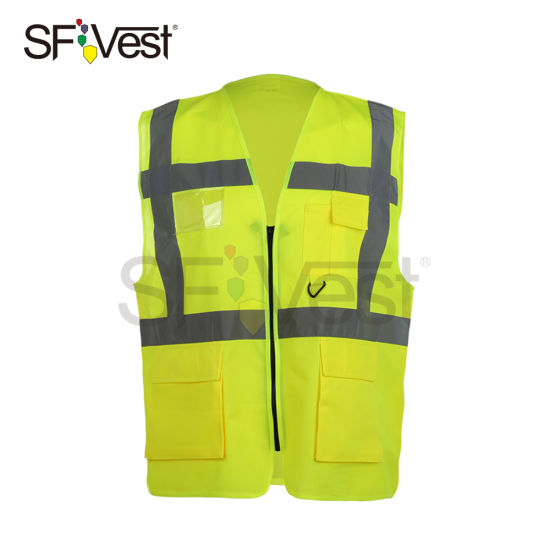 Class 2 New Fashion Design Safety Reflective Vest with En ISO 20471