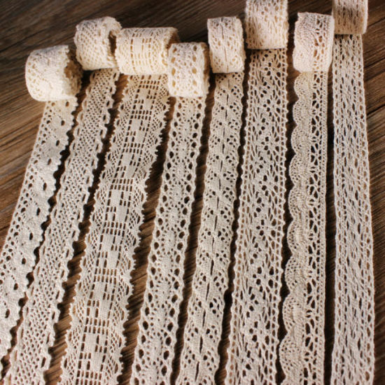 Wide Thick Thin Cotton Crochet Lace for Table Cloth Curtain Hometextiles