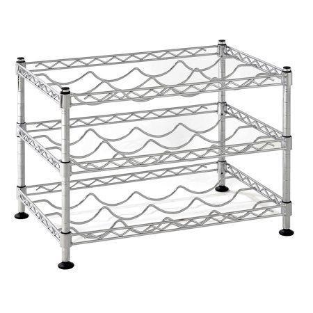 Classics Stackable Storage Holder Bar Display Stand Wine Rack Vintage Wire Metal Shelf