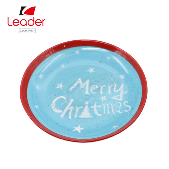 2018 New Merry Christmas Ceramic Plate for Home Decorcation pictures & photos