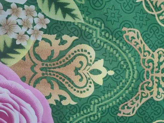 New Design Chinese Pattern Bedding Sheet for Polyester Fabric