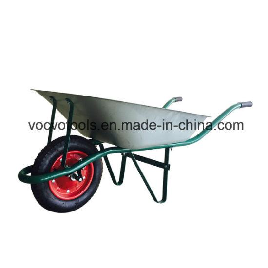 Steel Wheelbarrow, Metal Tray Wheel Barrow Wb6203
