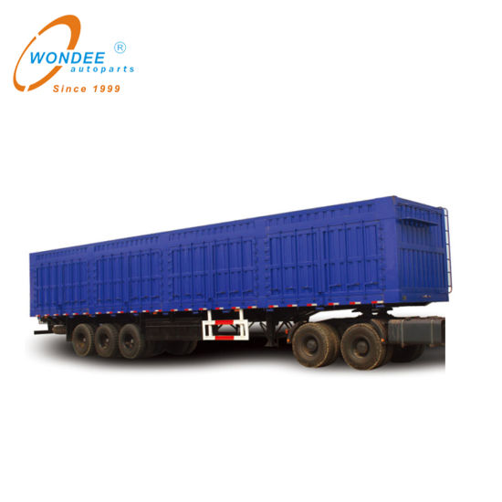 High Quality China Factory 3 Axle 60 Ton Truck Cargo Stake Box Van Semi Fence Trailer