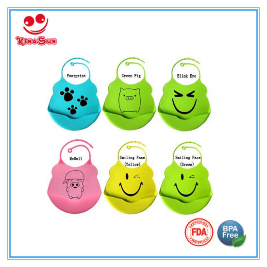 Waterproof Soft Baby Bibs with Adjustable Neckband pictures & photos