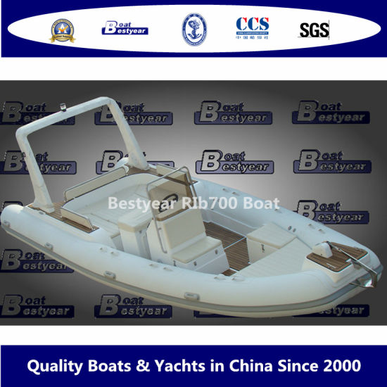 Bestyear 7m Rigid Inflagtable Rib Boat with Hypalon/PVC Tube pictures & photos
