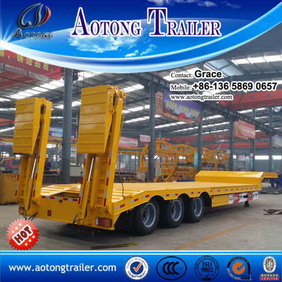 China Factory 3 Axles 50 Tons 60 Tons Low Bed Truck Trailers for Sale pictures & photos