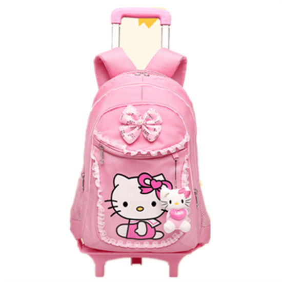8cbffe644744 Hello Kitty Primary School Girl Children′s Bag Trolley Bag  (GB WL201-202-203)