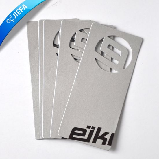 Wholesale Hollow out Paper Cardboard Swing Tag/Hang Paper Tag