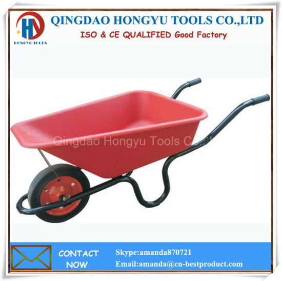 PVC Tray 150kgs Capacity 60L/4cbf Wheelbarrow pictures & photos