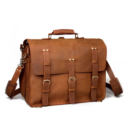 Large Capacity Top Quality Crazy Horse Leather Travel Bag Duffle Bag for Weekend