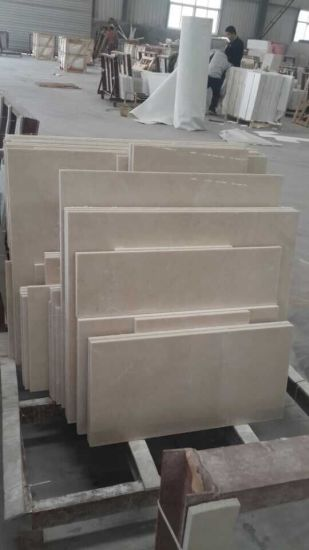 Light Emperador Carrara White Chinese Beige Marble Floor Tile pictures & photos