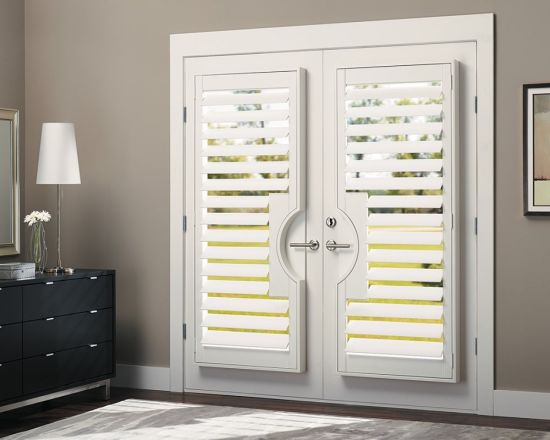 China 2018 Aisen Home Furniture French Door Pvc Plantation Shutter