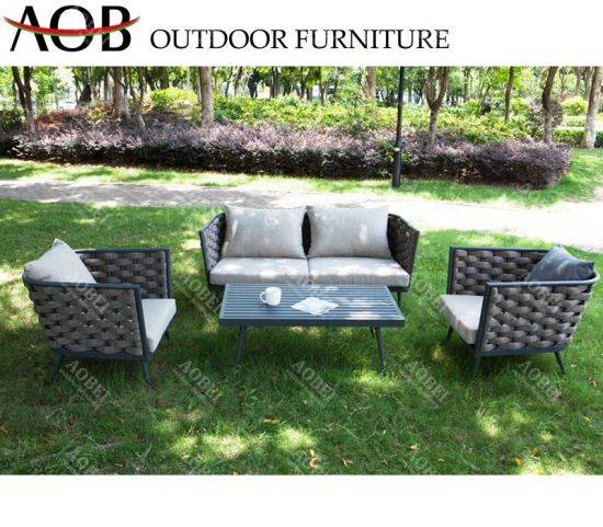 Aobei Outdoor Modern Home Patio Garden Hotel Resort Rope Leisure Lounge Sectional Furniture Sofa Set