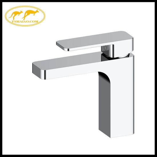 Sanitary Wares Bathroom Vanity Brass Square Basin Faucet Ceramic cartridge (10001)