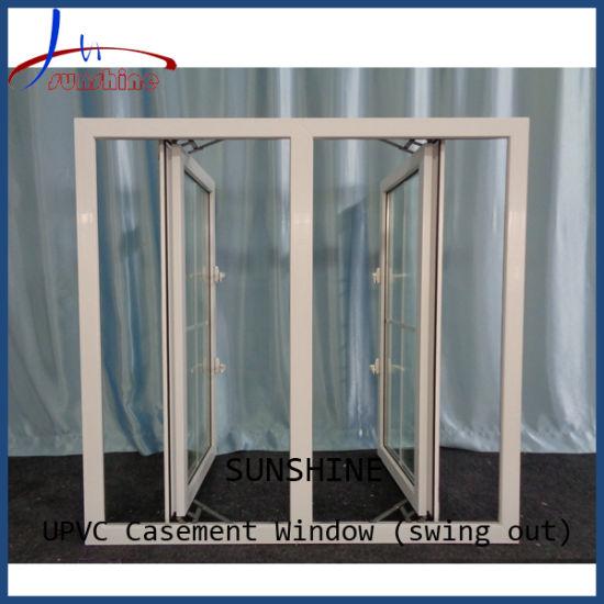 High Quality Customizable Double Glaze UPVC/PVC Glass Casement/Hinge Windows