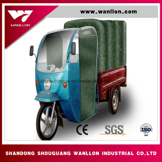 Water Cooled New Hard Canvas Three Wheel Motor Trike for Passanger Market pictures & photos
