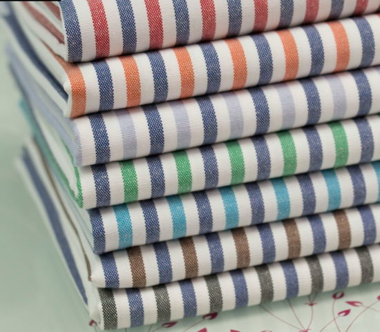 CVC Oxford Fabric with 3 Colors Strip pictures & photos