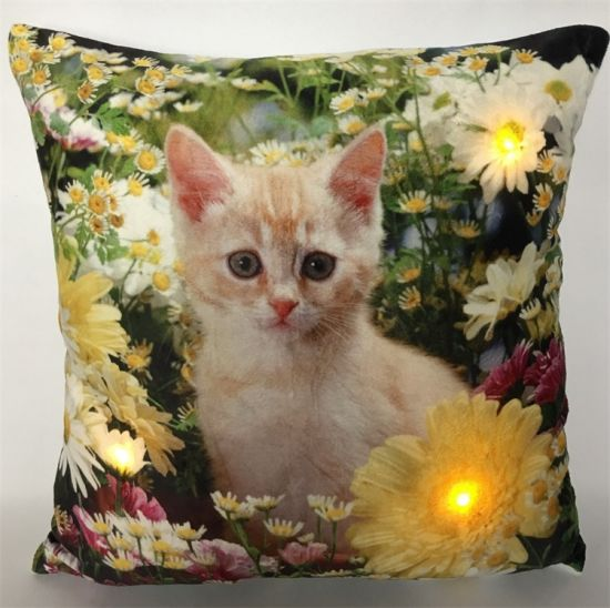 Decorative Easter Filling Throw Pillow, LED Light up Cushion Cover for Seasonal Gift