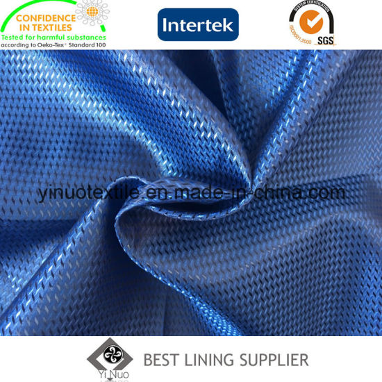 100% Polyester Super Soft Men′s Suit Lining Small Jacquard Lining pictures & photos