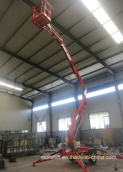 Aerial Hydraulic Towable Trailed Telescoping Boom Lift for Sale pictures & photos