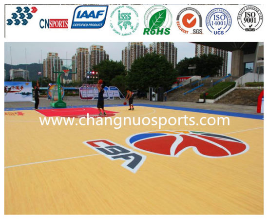 Excellent Silicon PU Sports Court for Basketball/Vollyball/Badminton Flooring