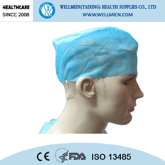 Disposable Nonwoven Surgical Doctor Cap with Elastic pictures & photos