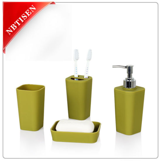 New Acrylic Plastic Bathroom Accessories Set Ts8007 4 China Class Bathroom Set And Colorful Household Bathroom Set Price Made In China Com