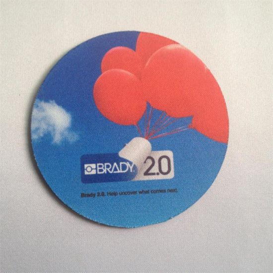 Promotional Rubber Coaster with Logo Print Under Sublimation Heat Transfer pictures & photos