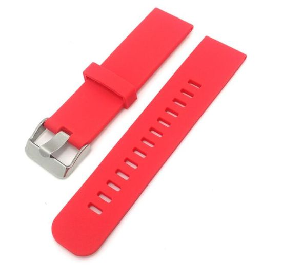 4 Colors Rubber Silicone Watch Straps Black Red Blue Grey Bracelet 18mm 20mm 22mm Watchband Sports Outdoor Waterproof Watch Band pictures & photos