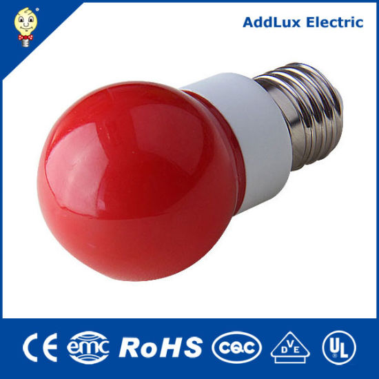 Ce UL Saso 3W-8W Decorative E27 Red LED Filament Mini Global Glass Bulb Made in China for Home & Business Exterior Lighting From Best Distributor Factory