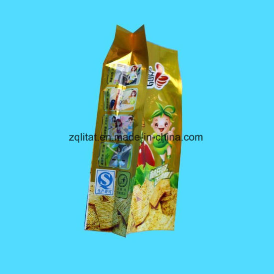 Custom Print Aluminum Foil Plastic Bag Stand up Pouch with Side Gusset pictures & photos