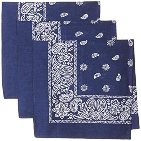 100% Cotton Colorful Print Bandana Handkerchief Head Wrap Bandana