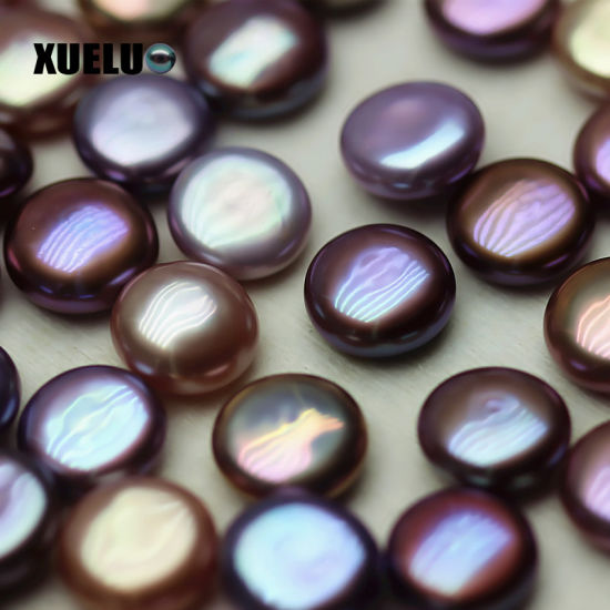 Xueluo Top Quality Dark Purple Coin Baroque Loose Pearl Beads Wholesale