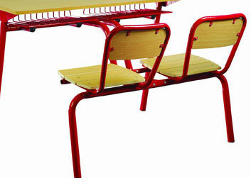 School Furniture Wooden Double Student Desk and Chair (FS-3232) pictures & photos