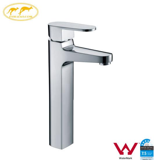 Watermark Bathroom Single Handle Water Saving Brass Basin Faucet (HD4900)