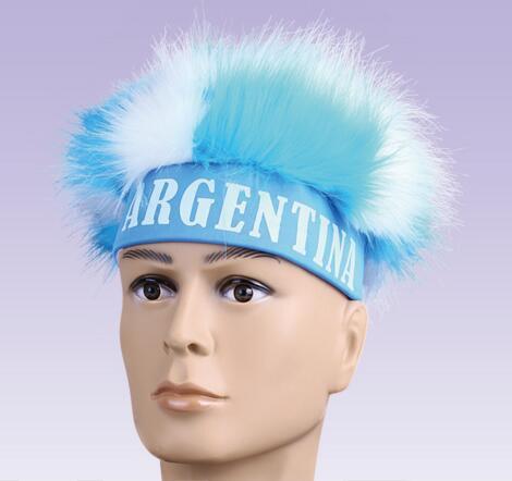 Synthetic Sport Soccer Fan Wig/ Synthetic Hair Wigs/ Soccer Wig