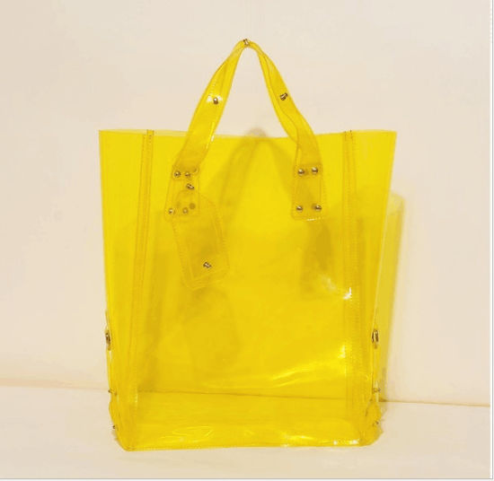 Korean New Candy Color Big Size PVC Shopping Bag pictures & photos