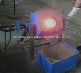 Induction Melting Furnace for Melting 100 Kgs of Copper, Brass, Silver, Gold pictures & photos