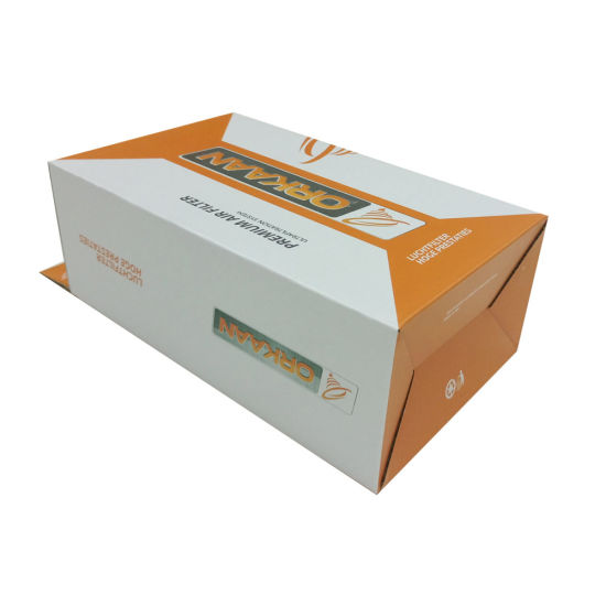 Design Paper Box with Hook and Logo Foil pictures & photos