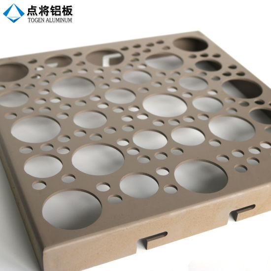Round Aluminium Panel : China decorative square round hole aluminum perforated