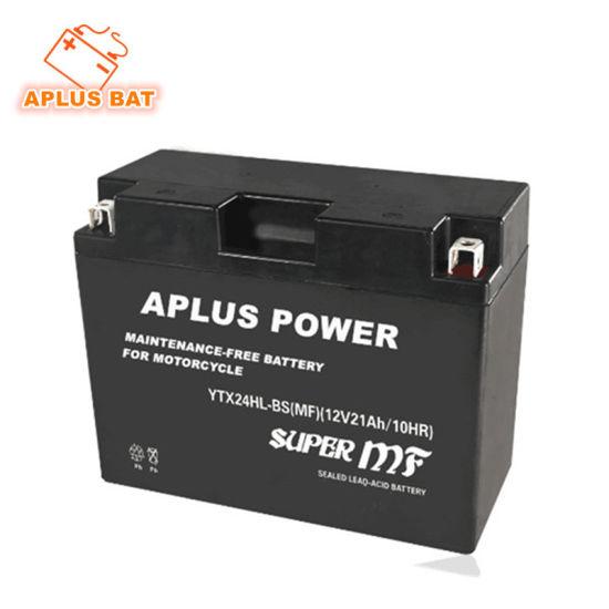 Lead Acid AGM Batteries for Mf Motorcycle Ytx24hl-BS 12V 18ah