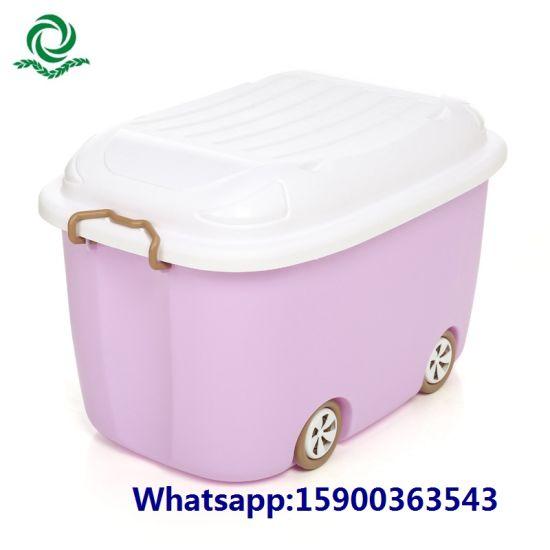 China Food Grade Children′s Plastic Toy Storage Box Clothes