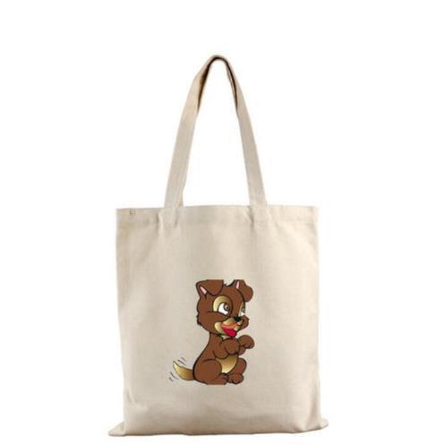 Custom Logo Eco-Friendly Long Strap Noted Toy Circular Zipper Shopper Cotton Bag