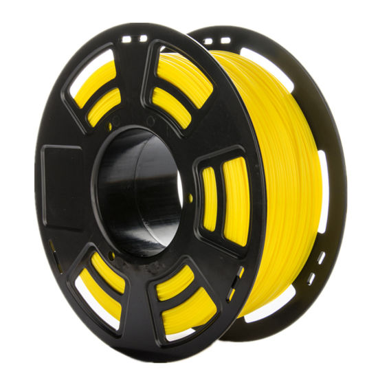 3D Printer PLA Filament with 1.75mm 1kg spool 2.2 pounds Dimensional Accuracy +/- 0.05 mm (Yellow) pictures & photos