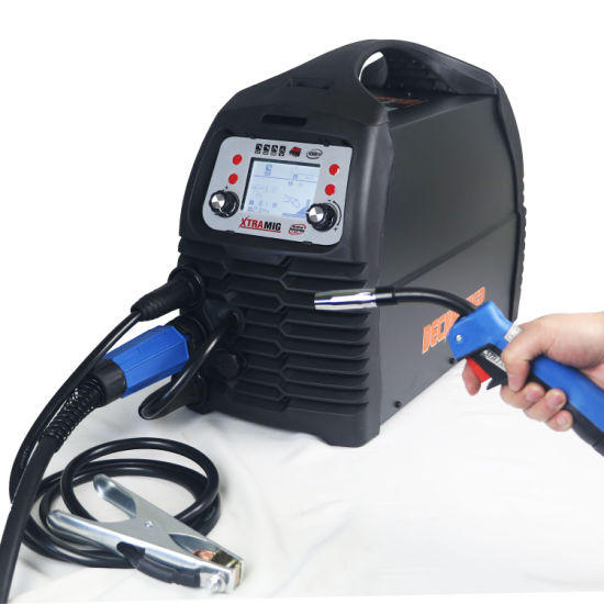 Factory New 4 in 1 MMA TIG Mag MIG Welder 200 AMP CO2 No Gas Inverter Semi-Automatic MIG Welding Machine