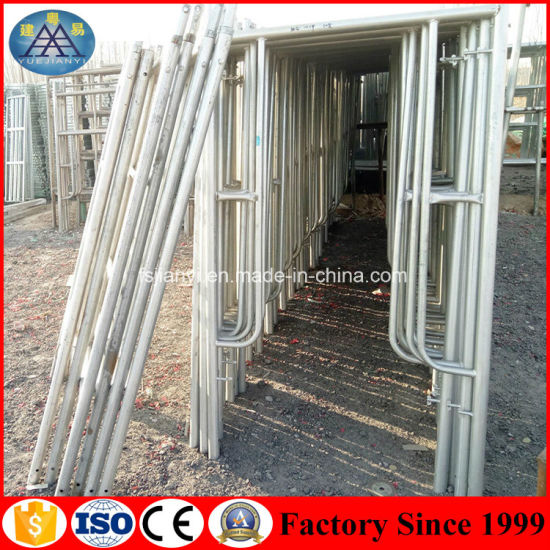 Used Scaffolding For Sale >> Galvanized Flexible Q235 Steel Frame Scaffolding Used Scaffolding For Sale